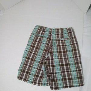 Gap Kids Boys Green Camo Logo Fleece Knit Shorts Large 10
